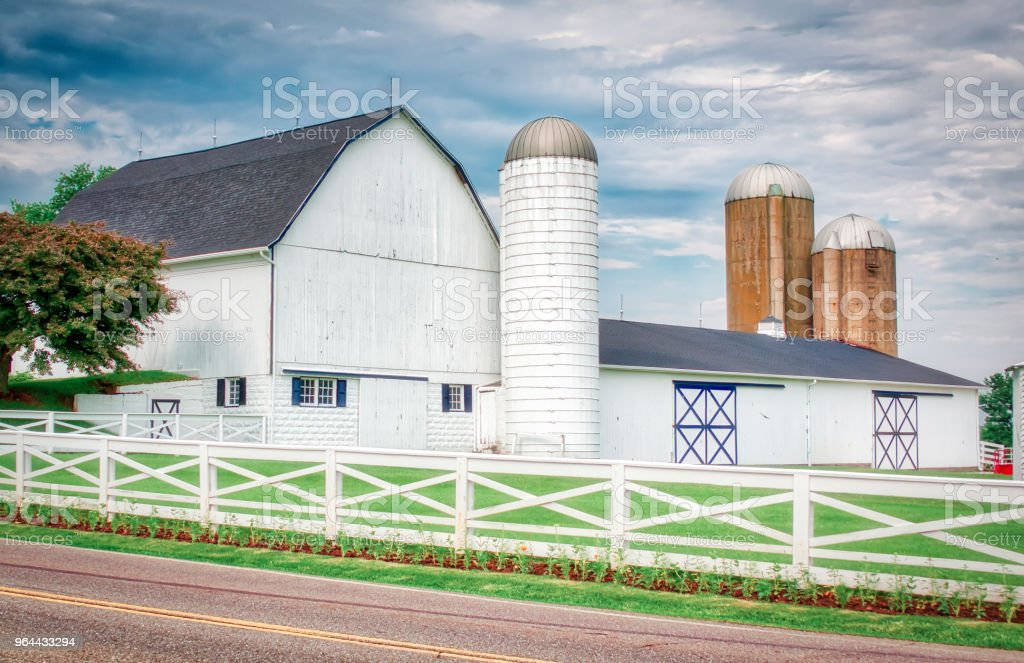 The White Barn - Royalty-free Agriculture Stock Photo