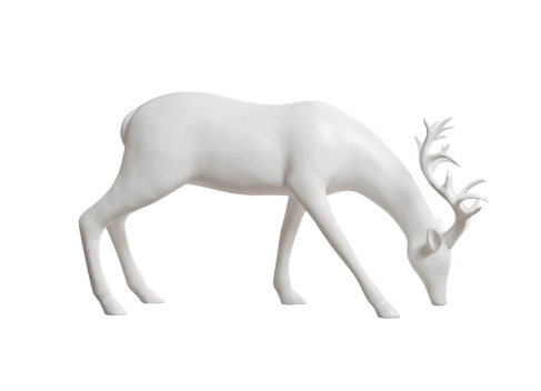 A deer made of porcelain...