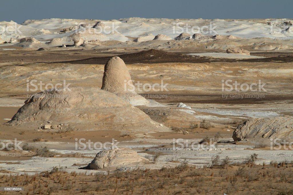 El blanco Farafra en el desierto del Sahara de Egipto foto de stock libre de derechos