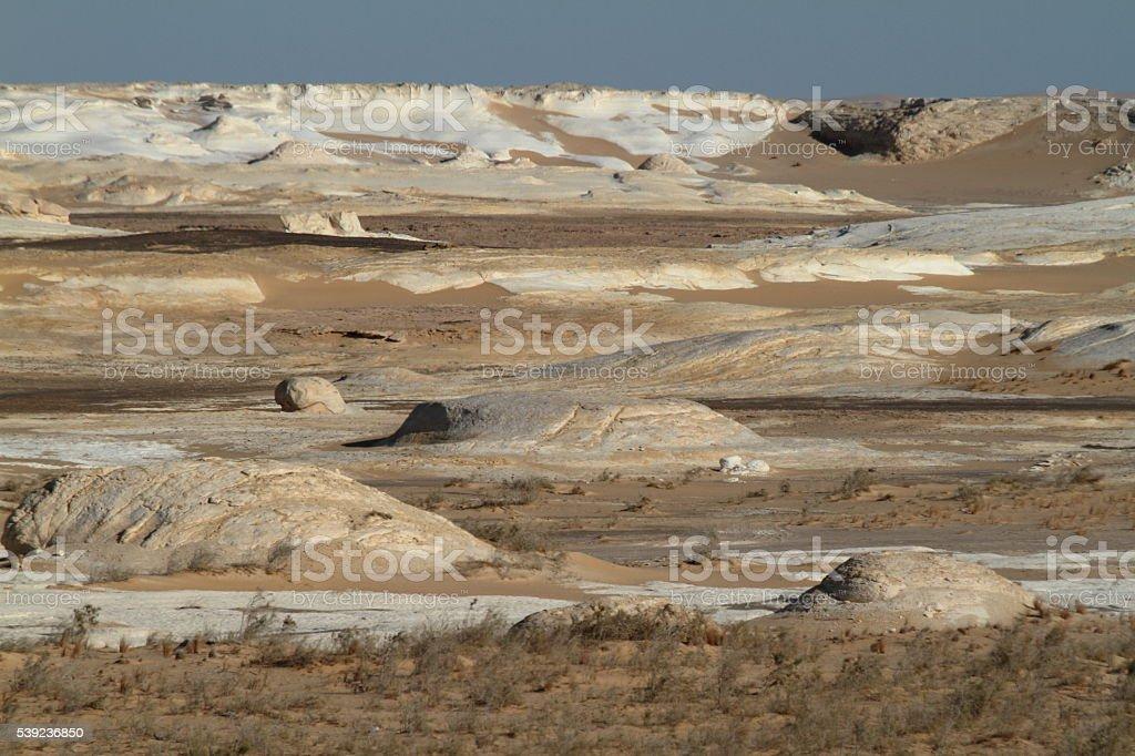 The White Desert at Farafra in the Sahara of Egypt royalty-free stock photo