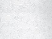 The White Hexagon Marble Tile Texture Background