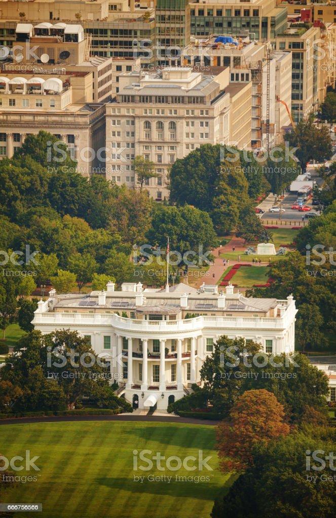 The White Hiuse aerial view in Washington, DC foto stock royalty-free