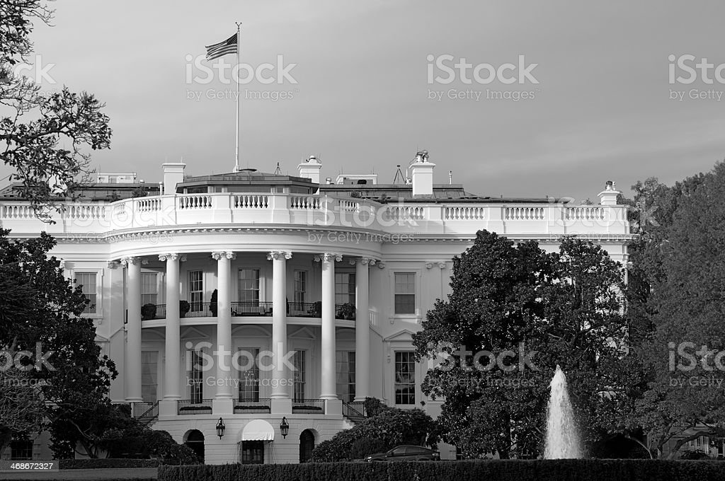 The White House in the Shadow of a Cloud royalty-free stock photo