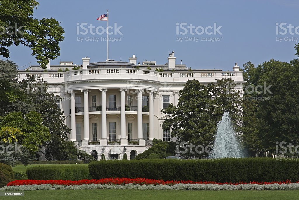 The White House in Washington DC (USA) stock photo