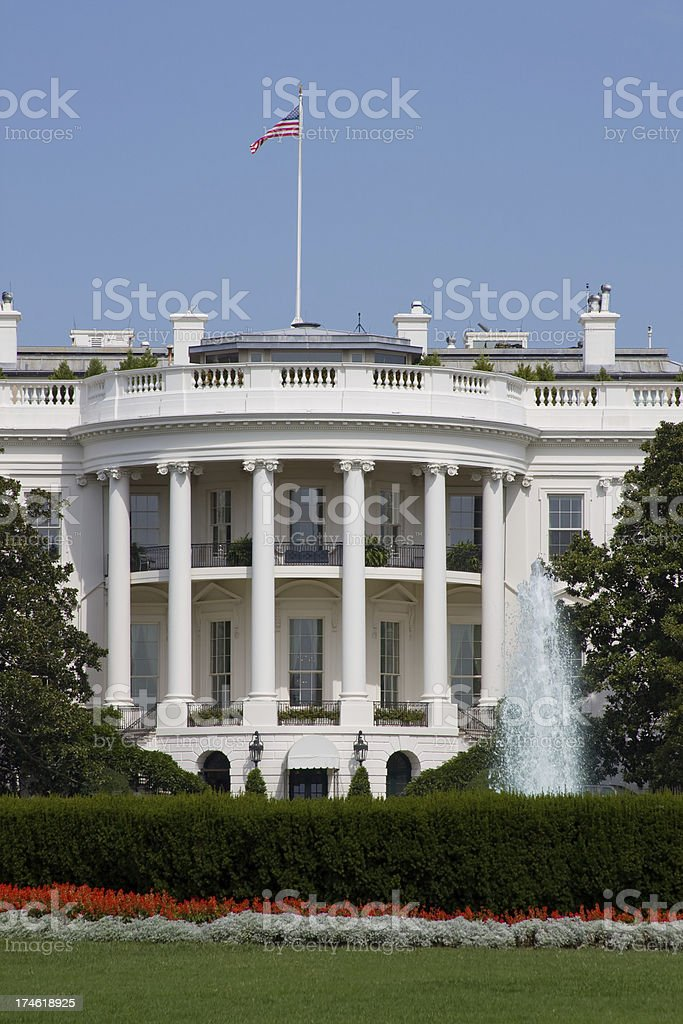The White House in Washington DC (USA) royalty-free stock photo