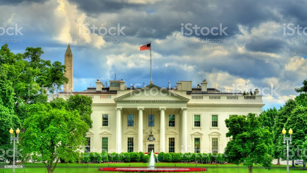The White House in Washington, DC stock photo