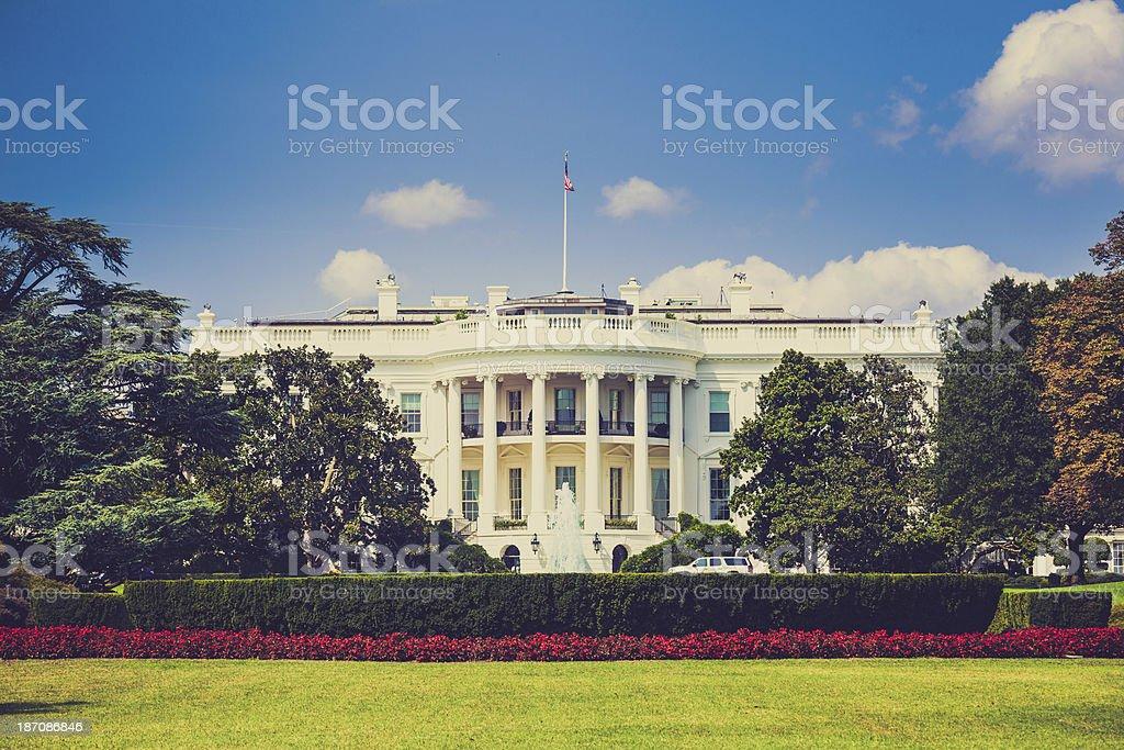 The White House in Washington DC, USA Landmark stock photo