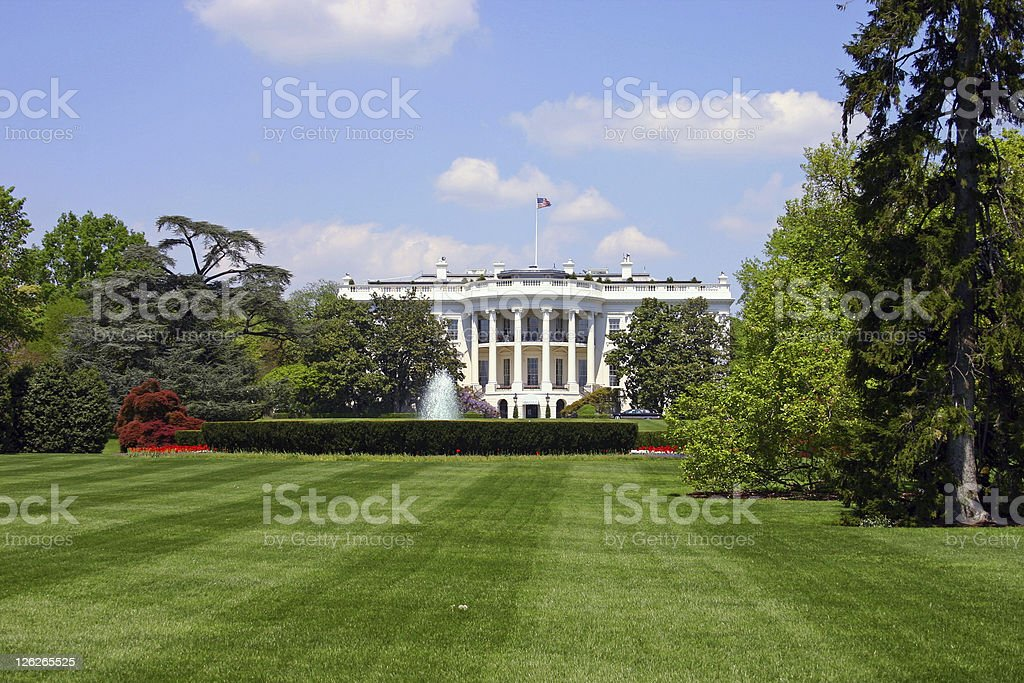 The White House in Washington DC, USA royalty-free stock photo