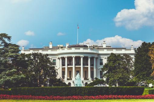The presidential white house in Washington DC