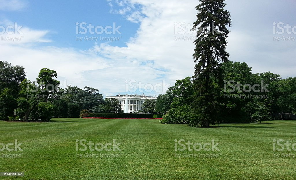 The White House in Washington DC, USA stock photo