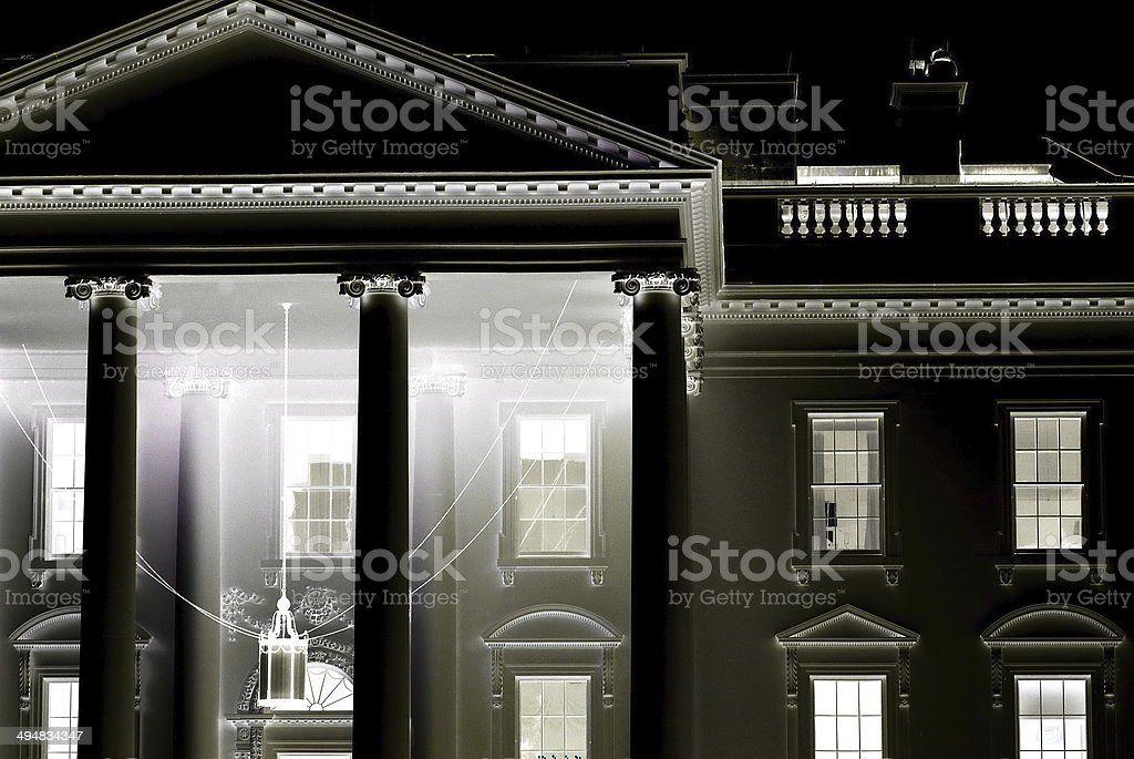The White House - Negative stock photo