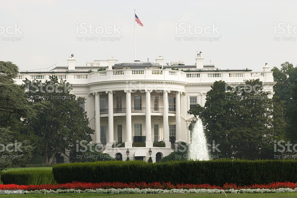 The White House (H) royalty-free stock photo