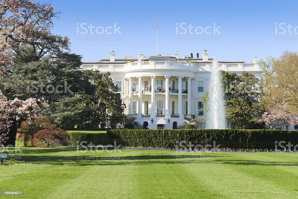 The White House, South Facade, Washington DC stock photo