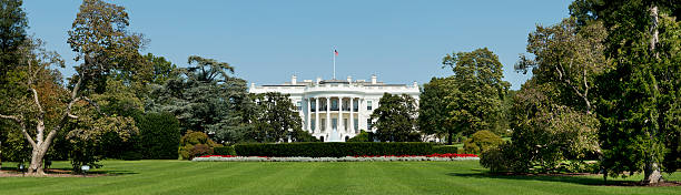 The White House Washington DC in the USA stock photo