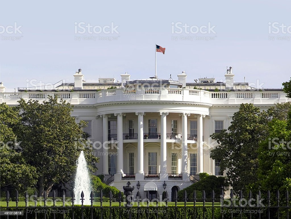 The White House Washington DC stock photo