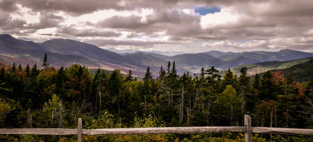The white mountains in New Hampshire The white Mountainbiker along the Kancamagus Highway in New Hampshire conway new hampshire stock pictures, royalty-free photos & images