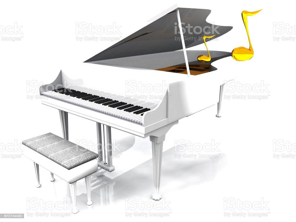 the white piano stock photo
