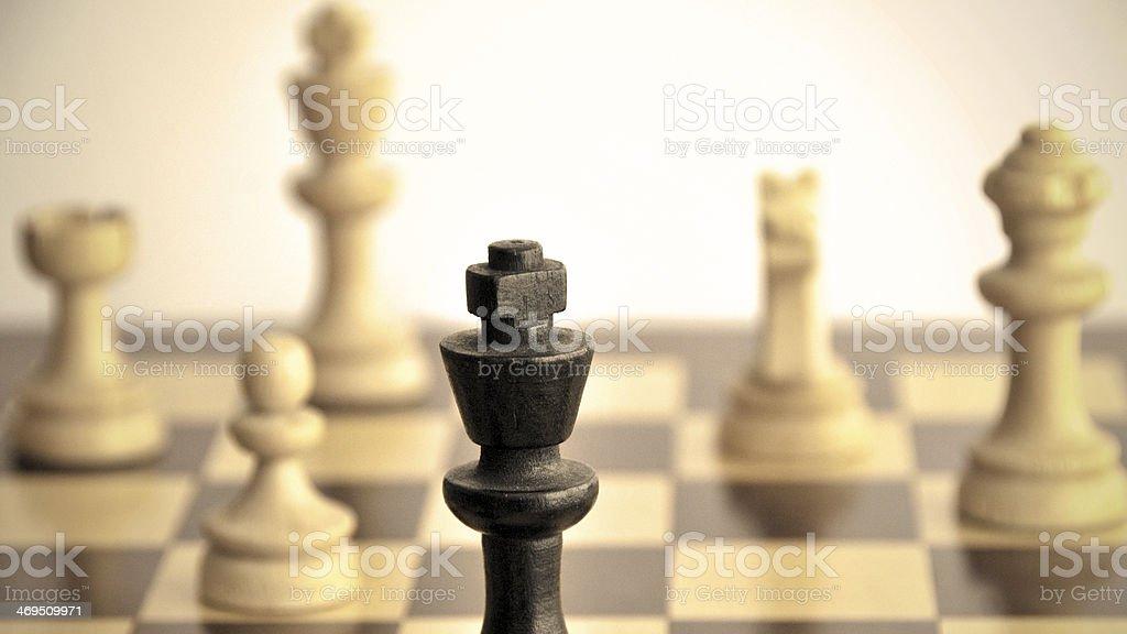 As peças brancas promover uma grande ataque - foto de acervo
