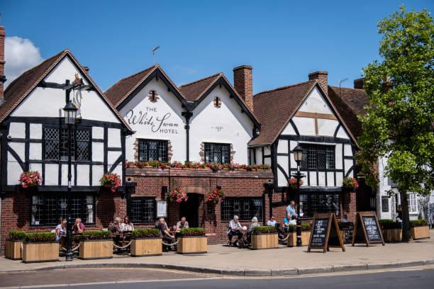 The White Swan Hotel in Stratford-upon-Avon stock photo