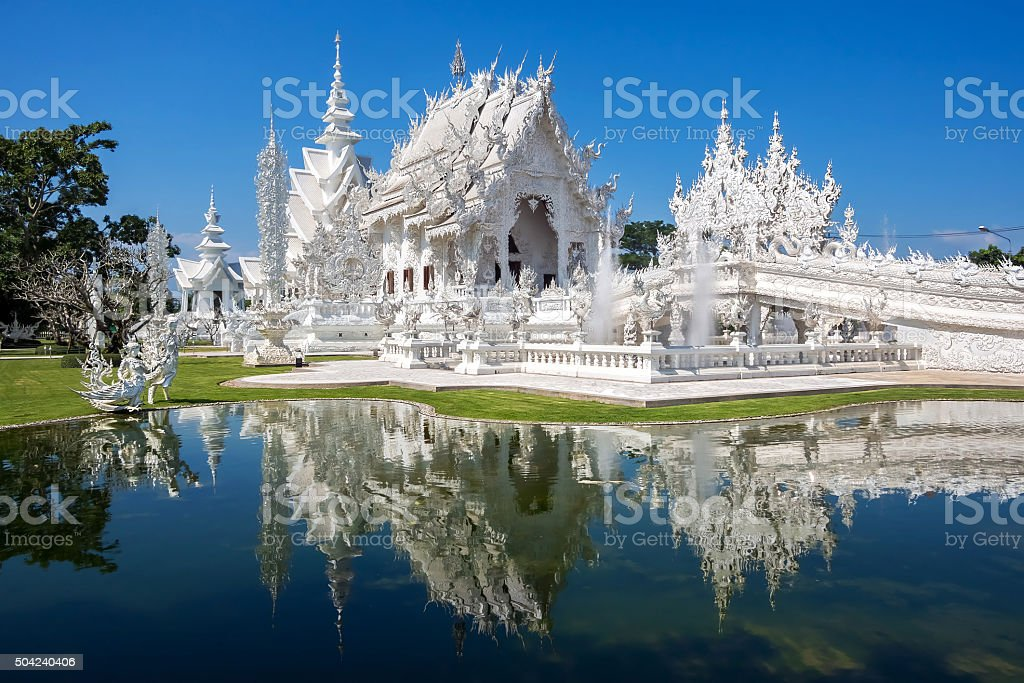 The White Temple, or Wat Rong Khun, Chiang Rai, Thailand stock photo