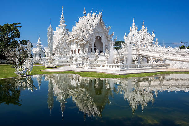 The White Temple, or Wat Rong Khun, Chiang Rai, Thailand Wat Rong Khun, also known as the White Temple, in Chiang Rai, Thailand. chiang mai province stock pictures, royalty-free photos & images