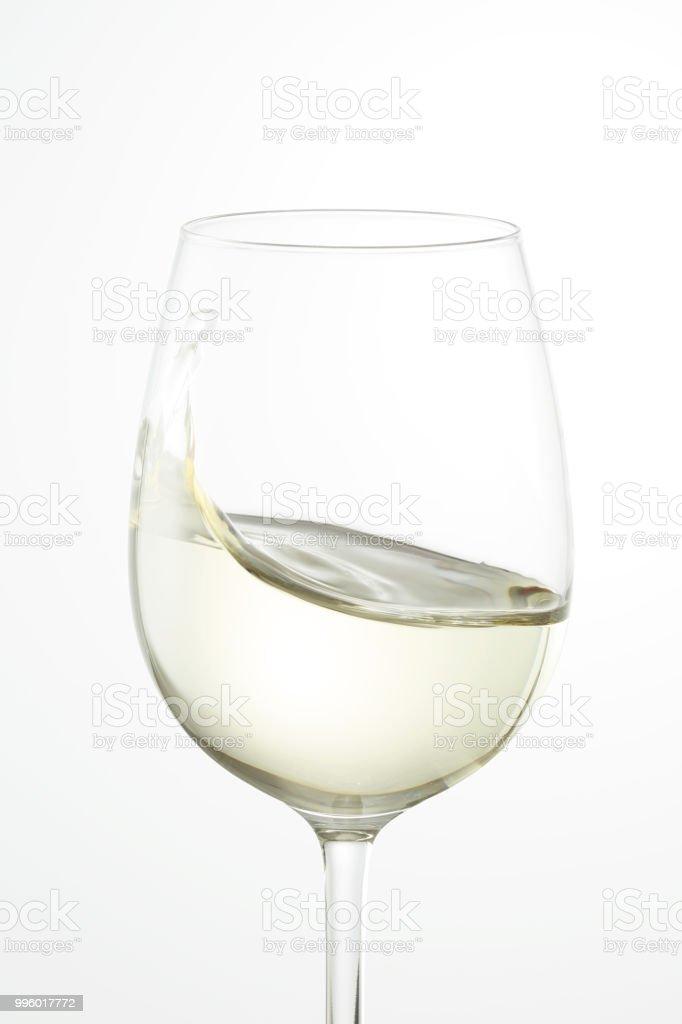 the white wine on white - foto stock