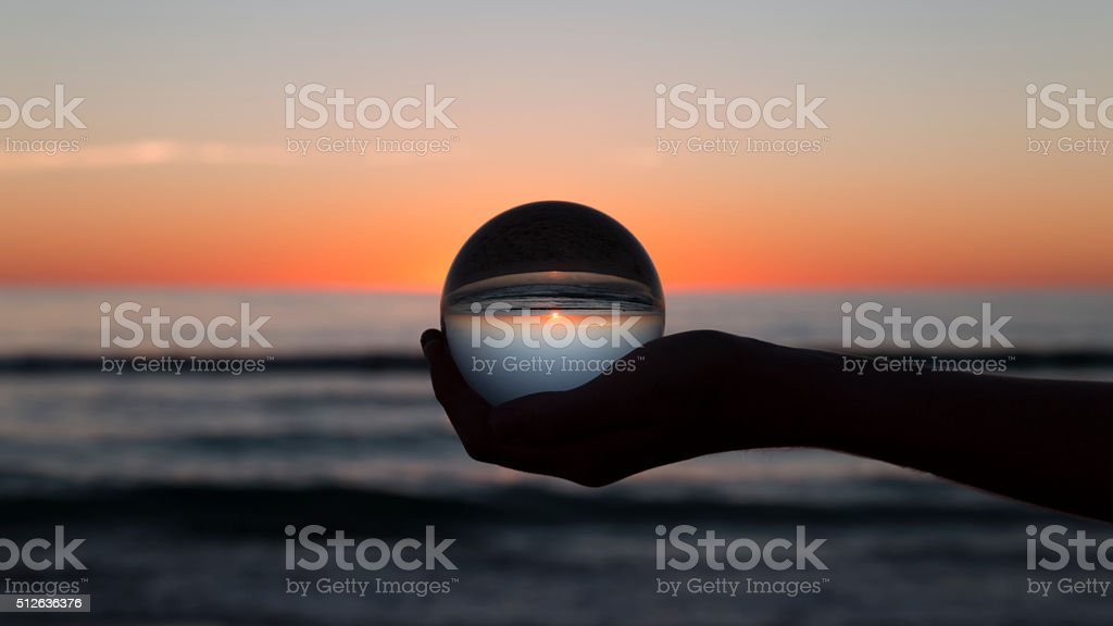 The Whole World in his Hands stock photo