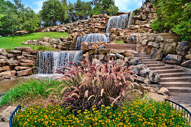 The Wichita Falls Waterfall, landmark, Texas stock photo