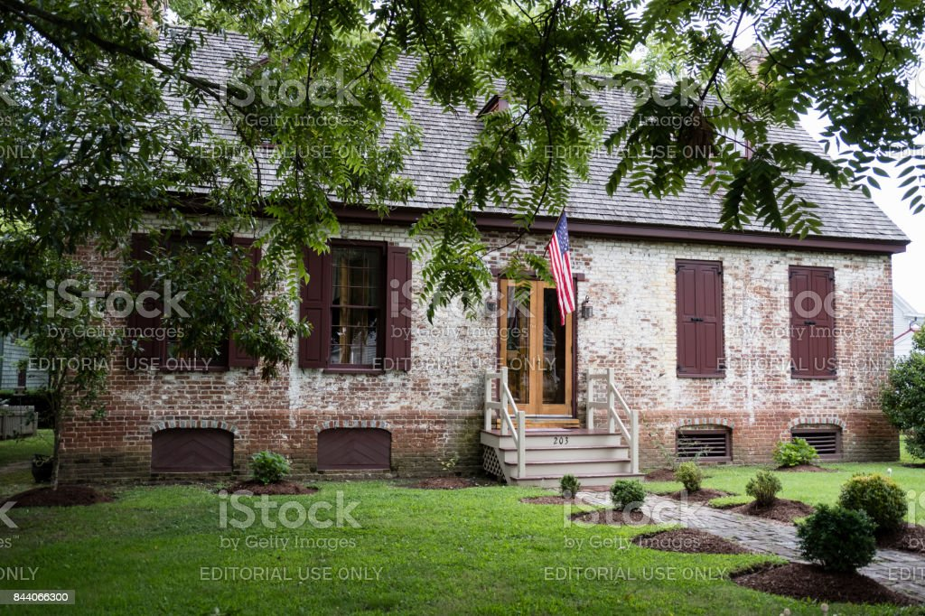 The Wickersham House, St. Michaels, Maryland stock photo