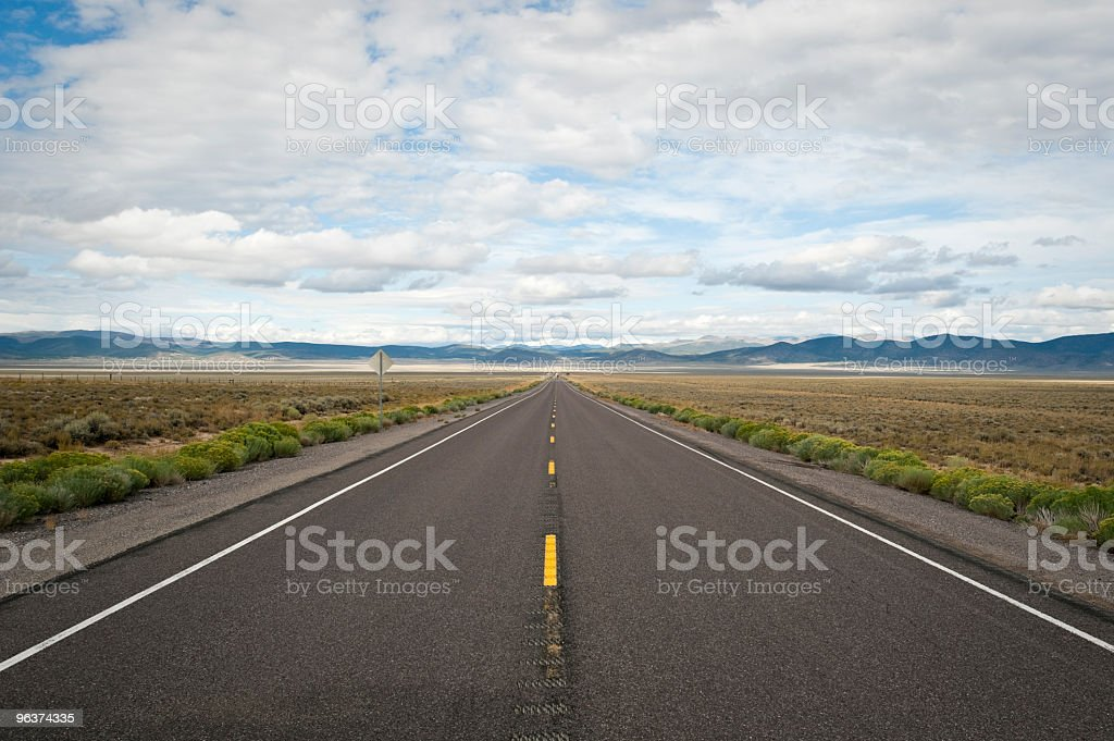 The Wide Road royalty-free stock photo