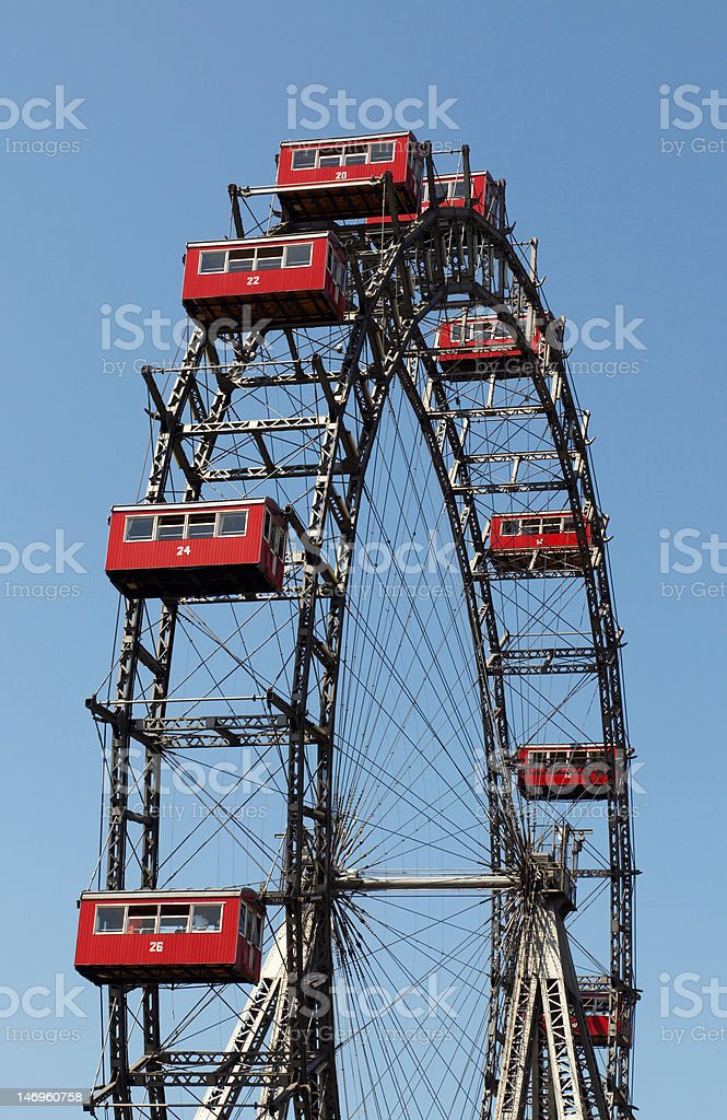 The Wiener Riesenrad (Viennese giant wheel) stock photo