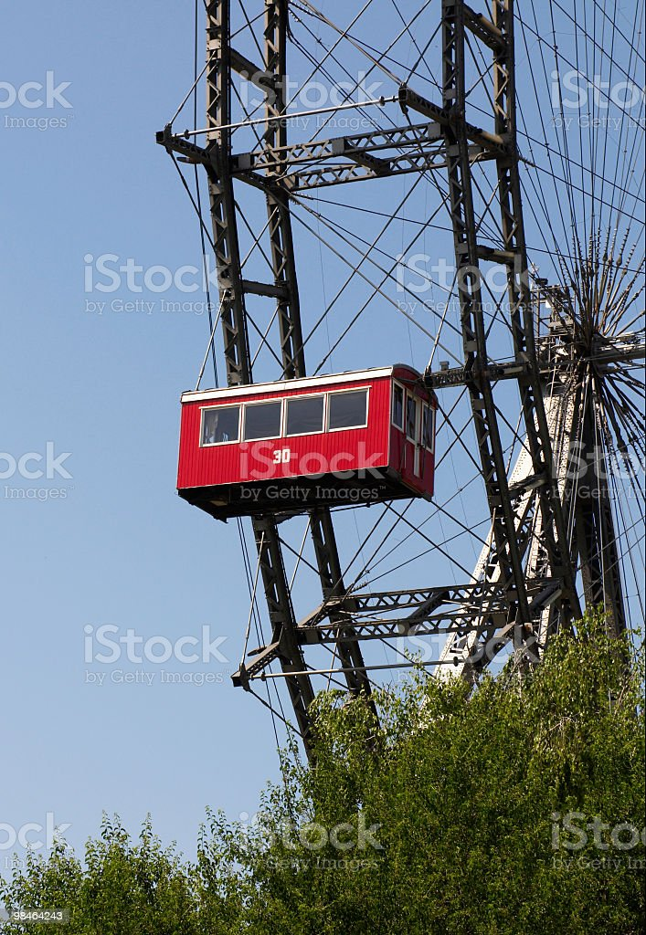 The Wiener Riesenrad (Viennese giant wheel) royalty-free stock photo