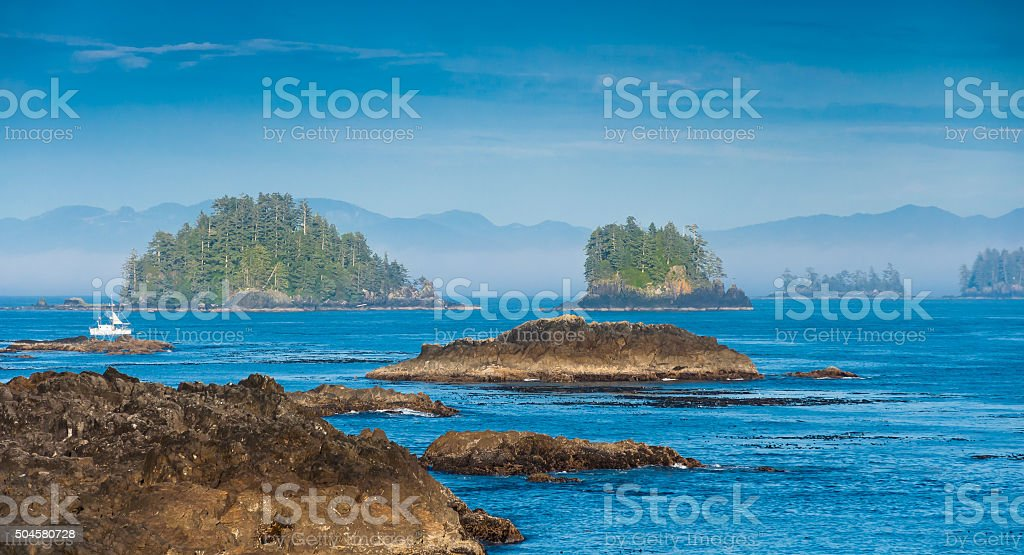 The Wild Pacific Trail located in the District of Ucluelet stock photo