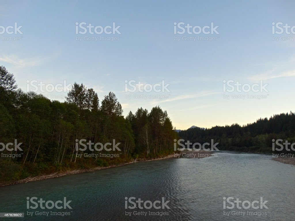 The Wild Sauk River stock photo