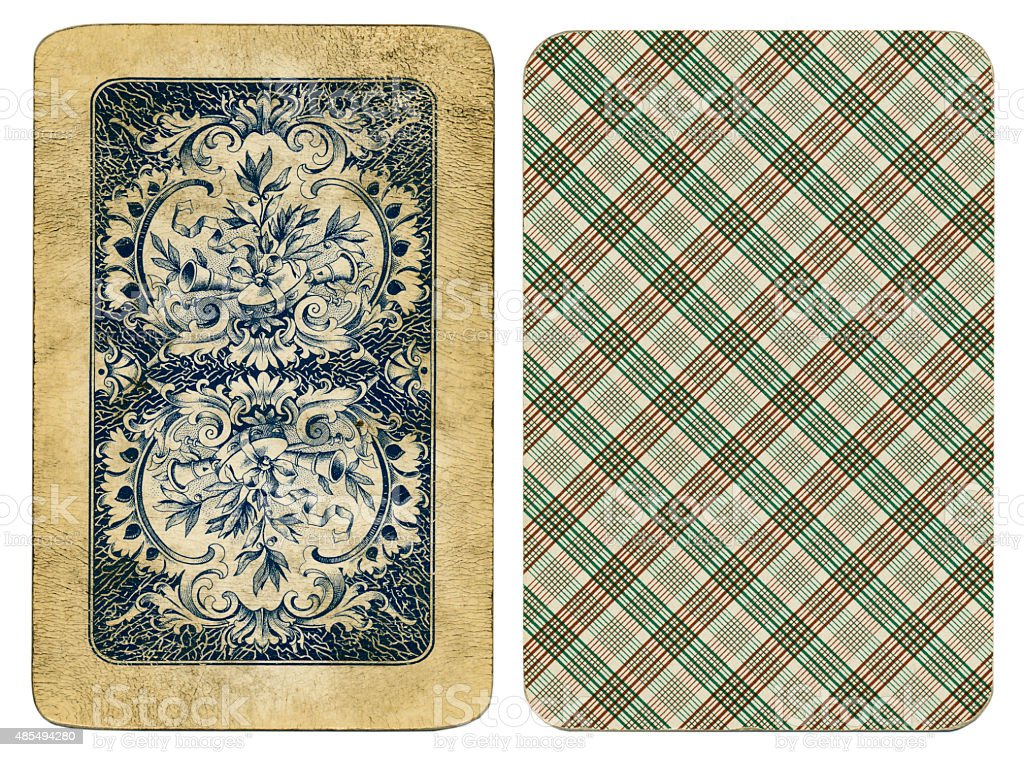 William Tell Four Seasons playing cards 1890 1910 stock photo