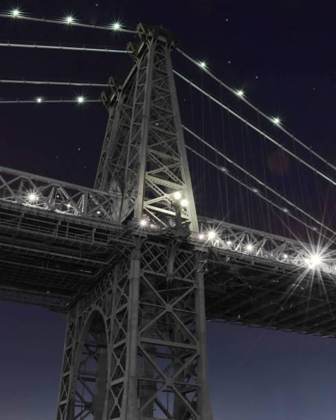 The Williamsburg Bridge at Night stock photo