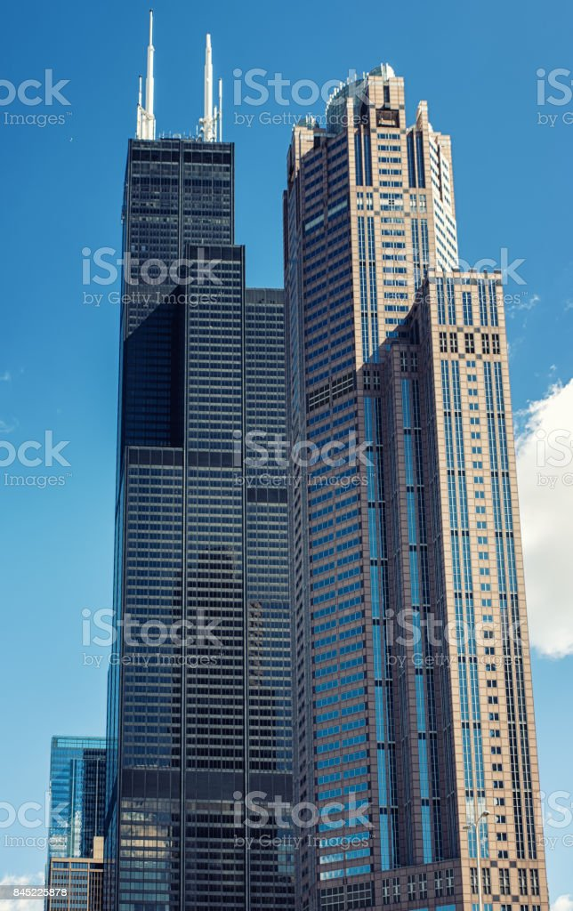 The Willis Tower,  known as the Sears Tower stock photo
