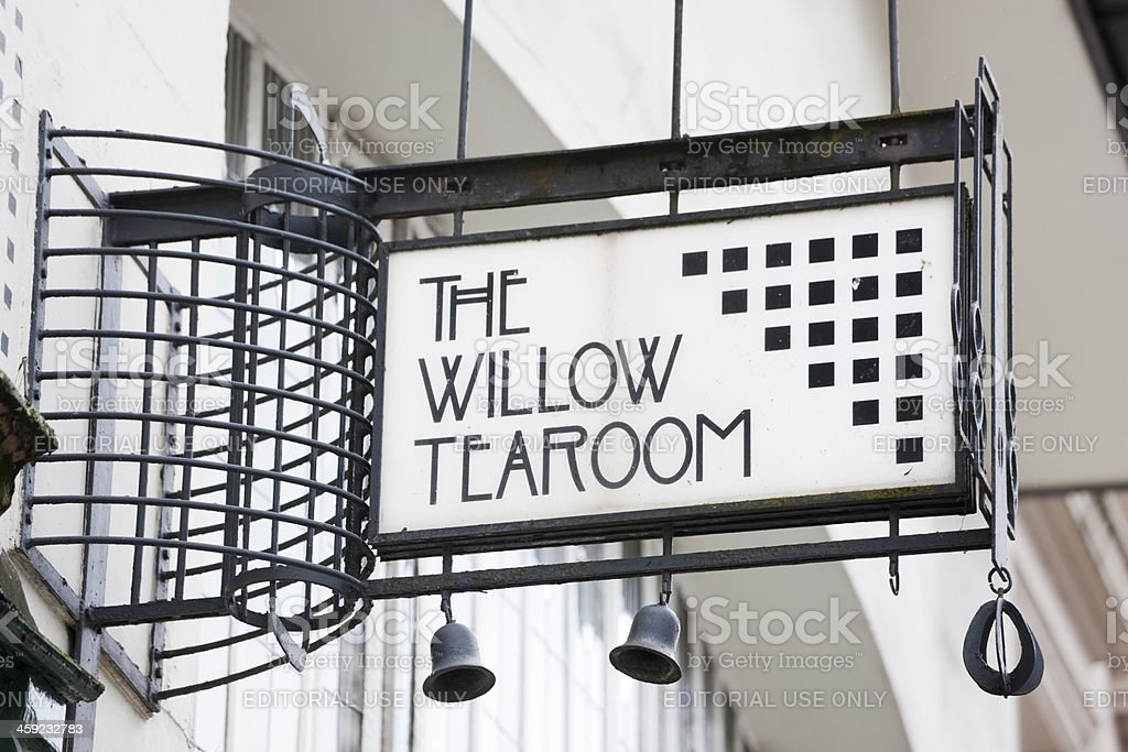 The Willow Tearoom, Glasgow stock photo