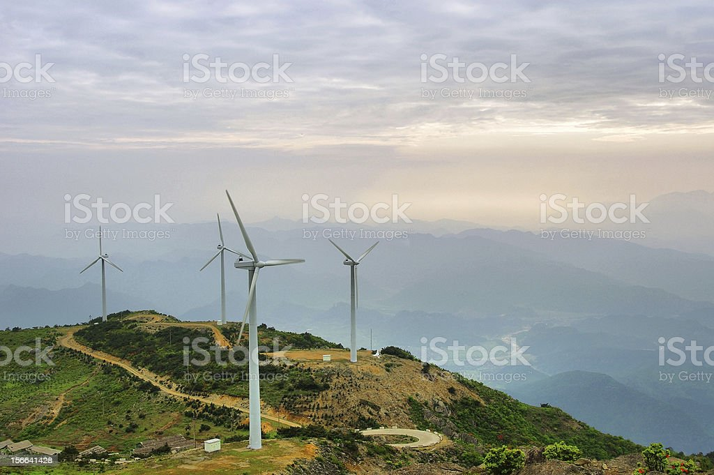 The wind power generation plant royalty-free stock photo