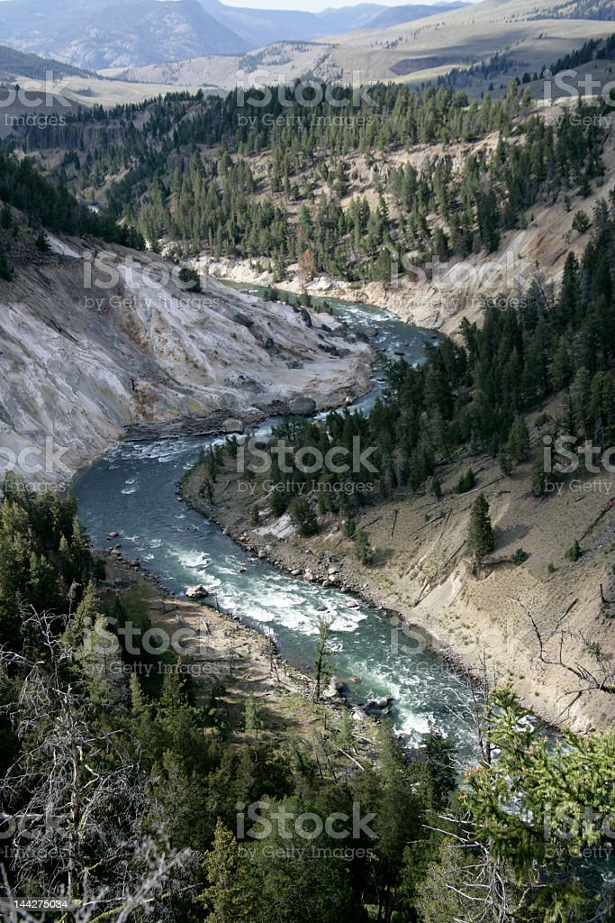 The winding Snake River stock photo