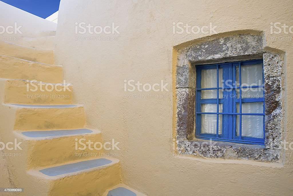 The window and stairs stock photo
