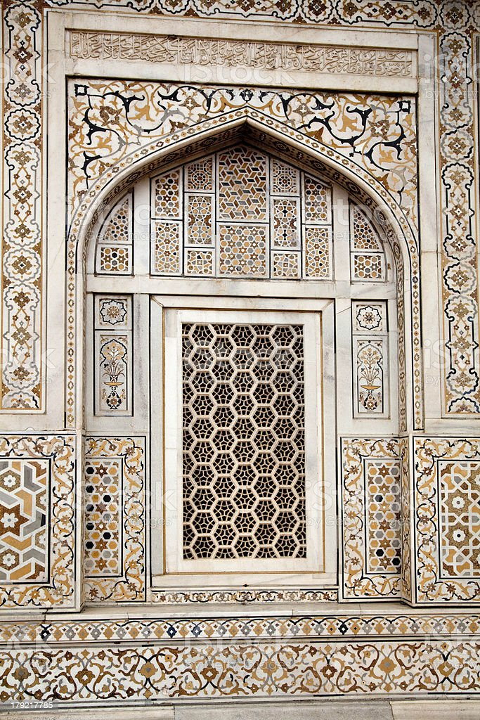 The window in India royalty-free stock photo