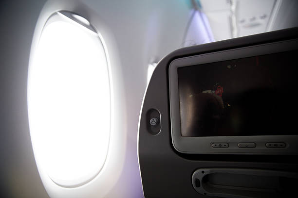 The window seat stock photo