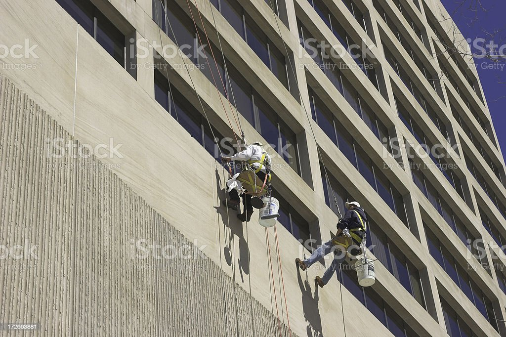 The window washers II royalty-free stock photo