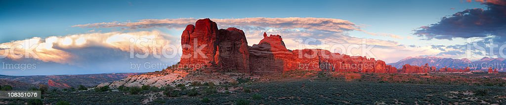 The Windows section of Arches National Park.  American Culture Stock Photo