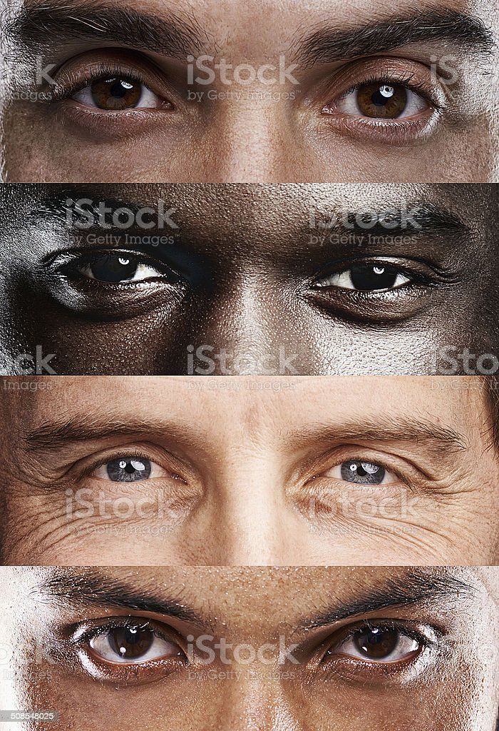 The windows to the soul, no matter where you're from! stock photo