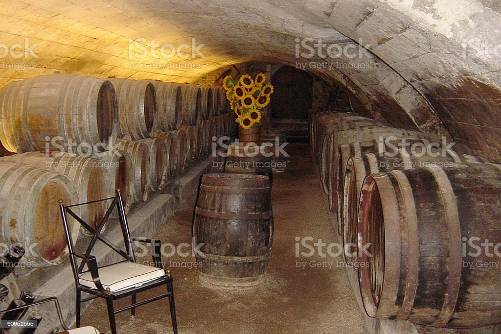 The wine cellar royalty-free stock photo