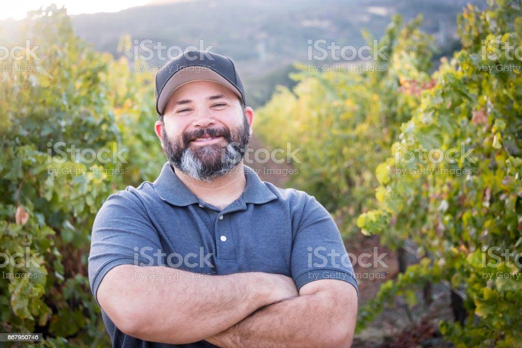 The Winemaker stock photo