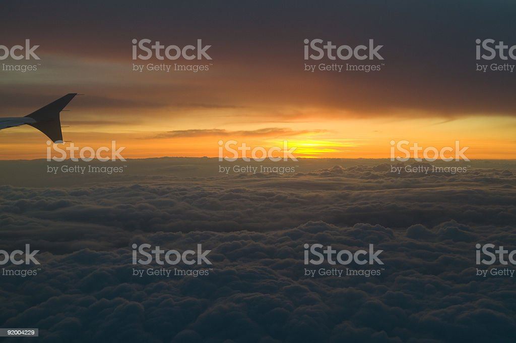The Wing after Sunset royalty-free stock photo