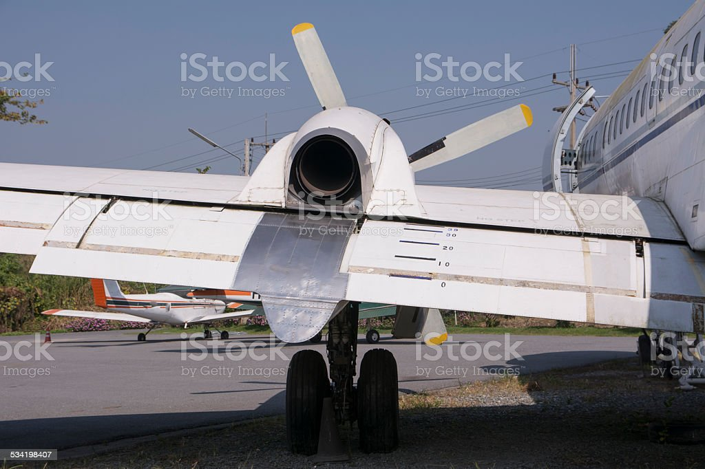The wing of the old stock photo